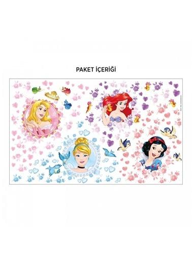 Disney Prensesler 156X90 Cm Duvar Sticker Renkli